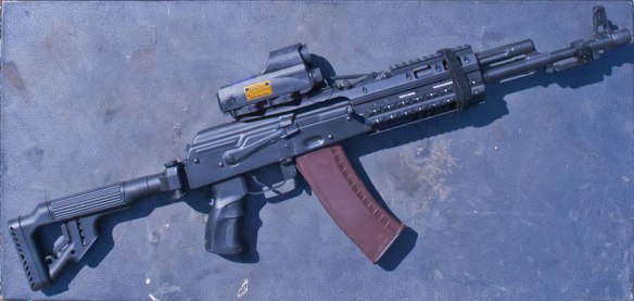AK rifle in IDF Navy Seal Configuration
