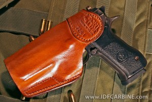 Special IWB holster has a reinforced mouth